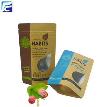 Food Grade Brown Kraft Paper Pouch For Snack