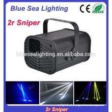 Efeito de palco luz 2r sniper dj scanner 3D efeito noite luz lâmpada
