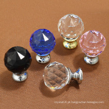 Porta de vidro de cristal lida com artesanato para decoração de casa