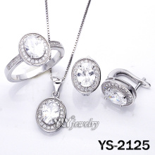 Simplicity Micro Pave CZ 925 Sterling Silver Jewelry (YS-2125)