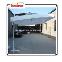 Paraguas grande del mercado del paraguas del parasol de aluminio cuadrado de 3M Paraguas grande del mercado al aire libre