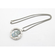 New Design Memory Locket with Stones Fashion Necklace