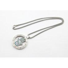 Новый дизайн Memory Locket с камнями Мода ожерелье