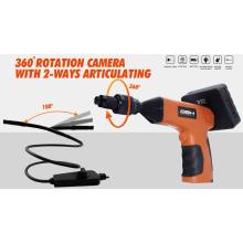 Caméra de rotation à 360 degrés avec articulation à 2 voies