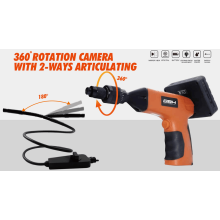 Câmera de rotação de 360 graus com articulação de 2 vias