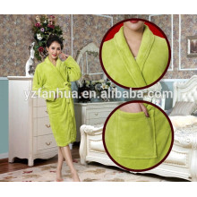 Simple Luxury personalized brushed fleece bathrobe
