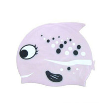 Cartoon Silicon Rubber Swim Hat for Kid
