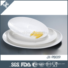 Best-selling oval dinner plate, white porcelain tableware for hotel