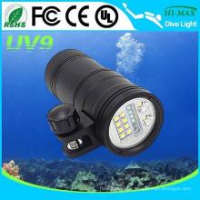Beste Tauch-Taschenlampe 5000 Lumen für Spot / Video / UV geführt