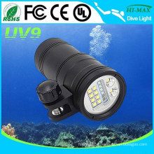 Underwater diving torch lighting LED dive video torch