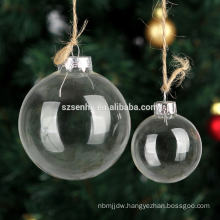 wholesale 8cm christmas clear hanging glass bauble