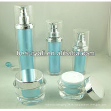 Recipiente de crema de acrílico oval para cosméticos