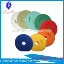 Disques de polissage de sol flexibles de 4 pouces discos para pulir marmol