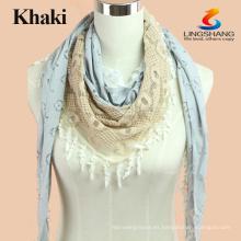 Bufanda de algodón floral femenino de la marca de fábrica del verano de la manera Bufandas y bufandas largas de Hijab de la playa Multifuncional de la playa
