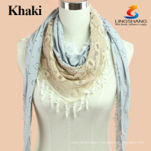 Fashion Summer Brand Echarpe en coton floral féminin Beach Multifunctional Bandana Hijab Long châles et foulards