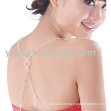 hot selling heart rhinestone bra strap