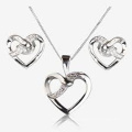 Fashion Rings and Pendants 925 Sterling Silver Jewelry Set