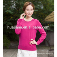 women's crewneck cashmere embroider sweater