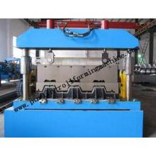 Galvanized Floor Deck Roll Forming Machine , PLC Trapezoida