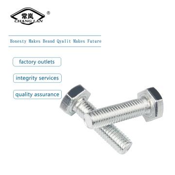 DIN933 Full Tooth Galvanized Hexagon bolt