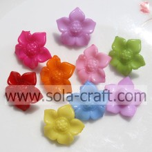Mixed Color 10*16mm Solid Sunflower Frosted Acrylic Beads