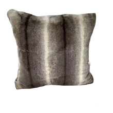 Faux Fur Decorative Cushion Pillow Animal Theme Style Printing Square Pillow For Sofa Bed Chair Autto Seat