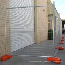 Panneau de clôture temporaire rétractable pour la protection