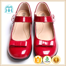 2017 kids flat shoes new year red children PU shining colourful shoes dress girls school uniform sandal
