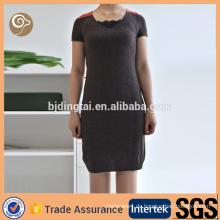 Kontrastfarbe ein Stück Kaschmirpullover Kleid