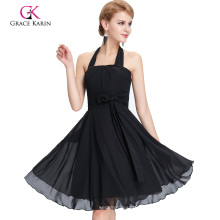 Grace Karin Halter longitud de la rodilla Vestido de gasa negro CL2290-1