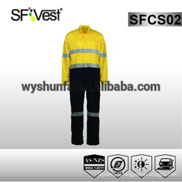 Защитная комбинезоны с защитной одеждой для рабочей одежды для мужчин 100% хлопчатобумажная ткань AS / NZS 1906.4: 2010