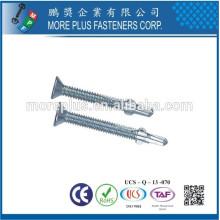 Feito em Taiwan Stainless Steel Hot Dip Galvanized Flat Head auto-perfuração parafuso