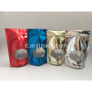 Bustine Demetallized Stand Up Pouches Metallized Pouches