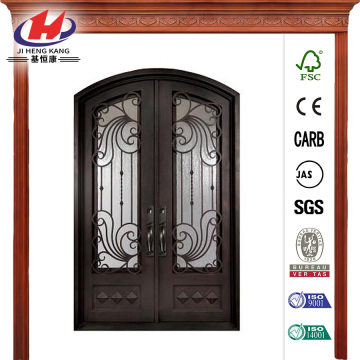 Painted Oil Rubbed Bronze Wrought Iron Prehung Front Door
