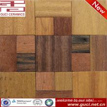 precio de baldosas de mosaico de madera barata de la pared de China 300x300mm
