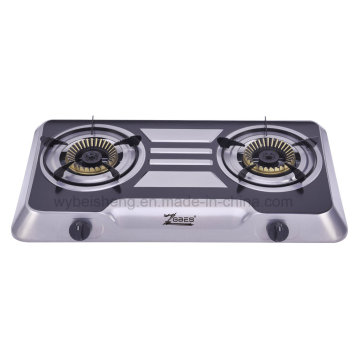 Colorful Steel Gas Stove, Two Burners, Classic Model