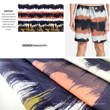Polyester gebürstet gedruckten Beach Wear / Casural tragen Stoff