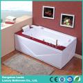 Bañera de hidromasaje de esquina con panel de madera (TLP-679-WOOD)