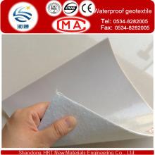 Geotêxtil impermeável do nonwoven do fabricante com 300G / M2-1100G / M2, forro da lagoa do HDPE, geotêxtil da geomembrana do HDPE