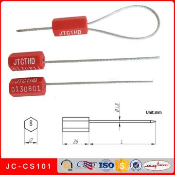 Selo galvanizado do fio de aço do selo plástico do recipiente do fechamento do cabo Jc-CS101