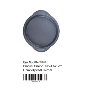 Round pan with silicone handle