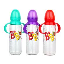 Custom 8oz 240ml Manual Babies Milk feeding glass Bottles with nipple and handle