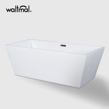 Sara Center Drain Soaking Tub di White