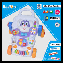 China kids toys baby with music fruit go-cart