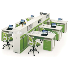 Wooden 6 person t shaped office desk used office partition