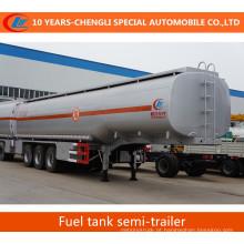 Semi reboque do tanque de combustível dos eixos do reboque 3 do tanque de óleo semi