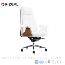 Orizeal italien cuir bureau exécutif chaise cadeira pas cher blanc en cuir chaise de bureau à vendreOZ-OCL010A)