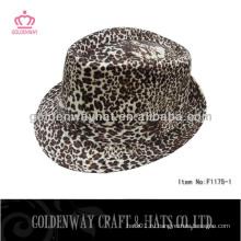 Leopard print fedora шляпа шляпы шляпа топ продажи 2013 новый дизайн завод прямые шляпы