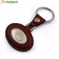 High Quality Leather Keychain Dengan Logo Promosi