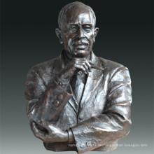 Große Figur Statue Economist Keynes Bronze Skulptur Tpls-082